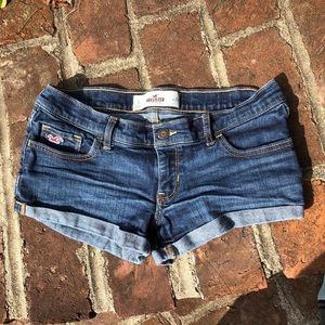 Hollister size 5 denim shorts